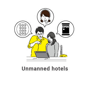 Unmanned hotels